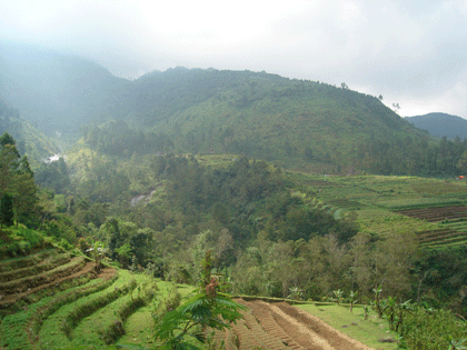 Beautiful views at the site of Gedong Songo