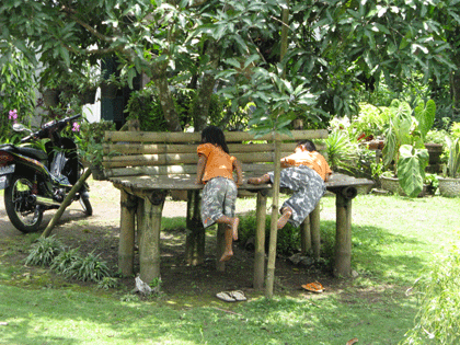 Children playing in our village Tegalwaton