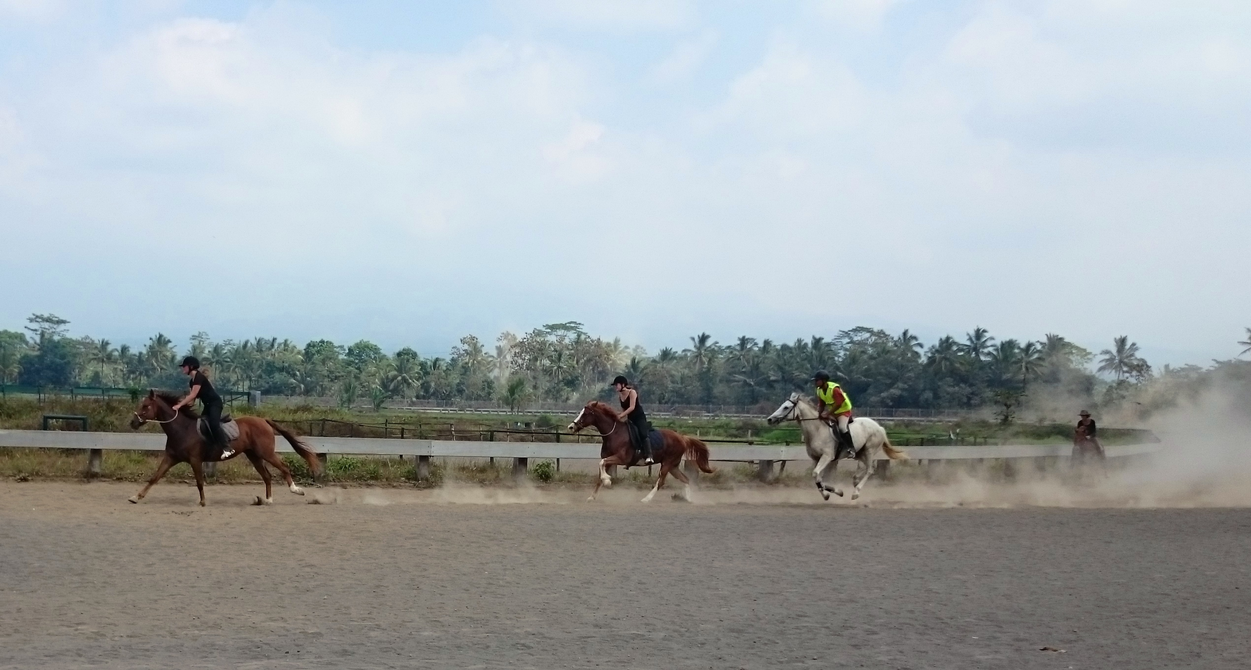 On the race track of our village Tegalwaton